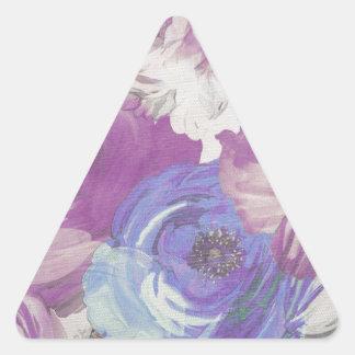Floral Vintage Wallpaper Pattern Triangle Sticker
