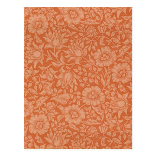 Floral Vintage Wallpaper William Morris Red Patter Postcard