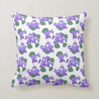 Floral viola pattern pillow