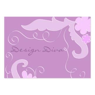 Floral violet carte de visite