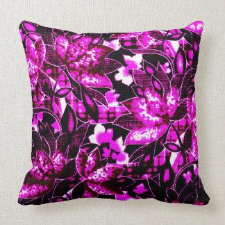 Floral violet oreillers