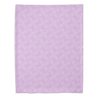 floral violet lace pattern duvet cover