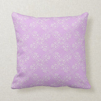 floral violet lace pattern throw pillow