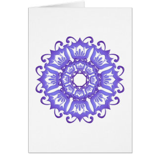 Floral violet mandala. Greeting. Card