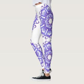 Floral violet mandala. leggings