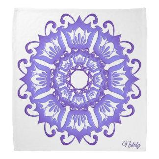 Floral violet mandala.Name. Bandana