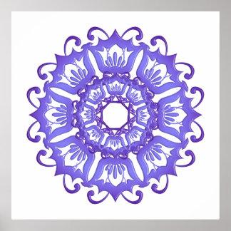 Floral violet mandala. poster