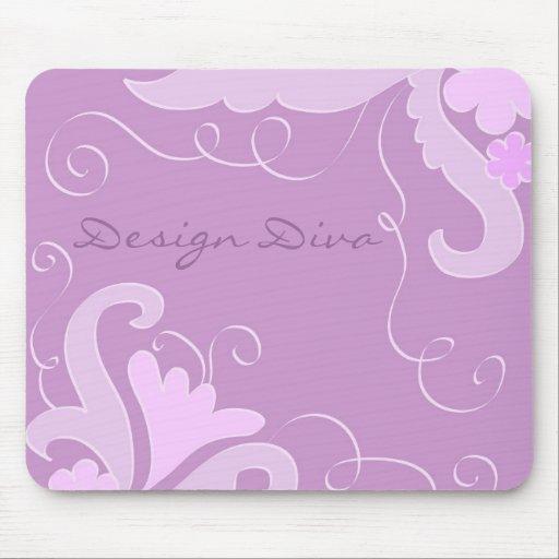 Floral violet tapis de souris