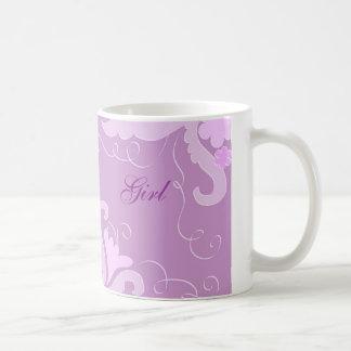 Floral violet tasse