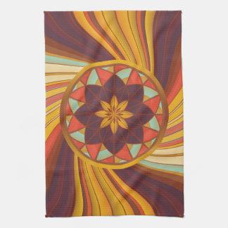 Floral vortex kitchen towels