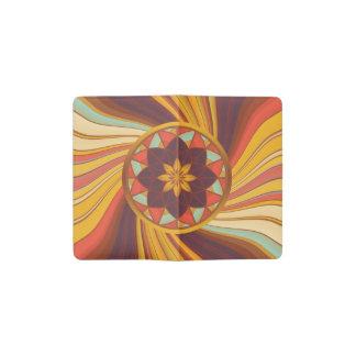 Floral vortex pocket moleskine notebook