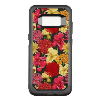 Floral wallpaper in watercolor style OtterBox commuter samsung galaxy s8 case