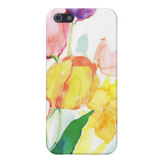 floral water color tulips iPhone 5 cases