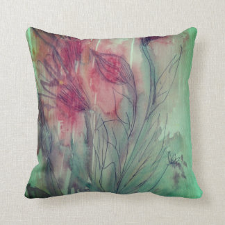 Floral Water Colour Throw Pillow