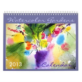Floral Watercolor 2013 calendar