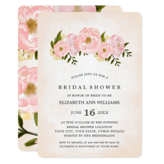 Floral Watercolor Bridal Shower Invitations