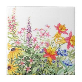 Floral watercolor ceramic coasters ceramic tiles