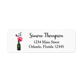 Floral Watercolor Custom Return Address Label