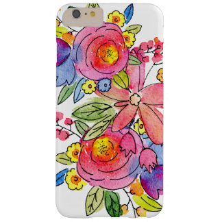 Floral watercolor design barely there iPhone 6 plus case