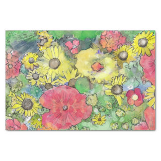 Floral Watercolor Explosion Colourful Tissue Paper