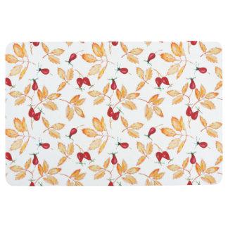 Floral Watercolor. Floor Mat