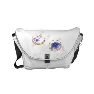 Floral Watercolor Macarons Messenger Bag