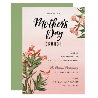 Floral Watercolor Mothers Day Brunch Card