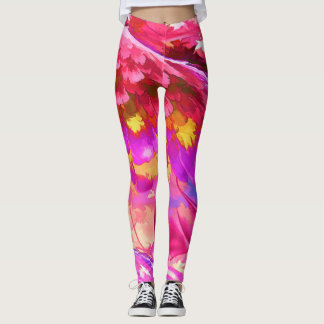 Floral Watercolor Painting abstract Leggings