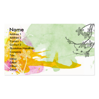 Floral Watercolor Profile Card Double-Sided Standard Business Cards (Pack Of 100)