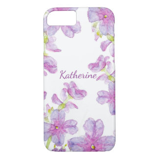 Floral Watercolor Purple Wildflowers Wild Blooms iPhone 8/7 Case