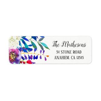 Floral Watercolor Return Address Mailing Labels