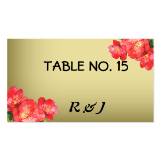 Floral Watercolor Table Number Cards for Guests Pack Of Standard Business Cards