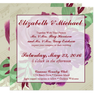 Floral Watercolor Wedding Invite