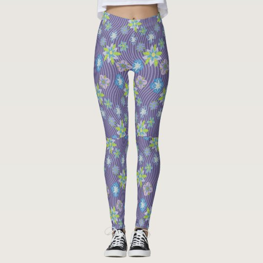 Floral Weaves Leggings