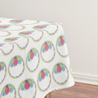 Floral Wedding Anniversary Bridal Shower Cake Tablecloth