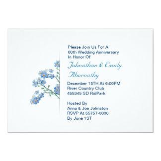 floral wedding anniversary invitation
