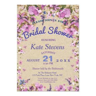 Floral wedding Bridal Shower Card