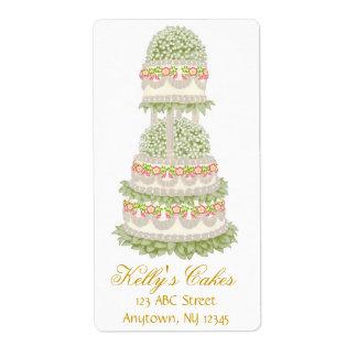 Floral Wedding Cake Customizable Avery Label