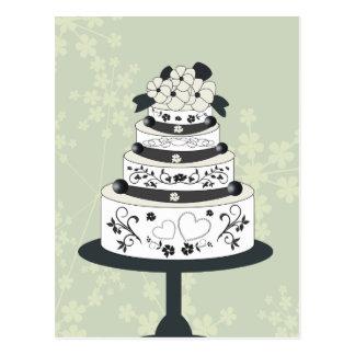 Floral wedding cake . Customize text Postcard