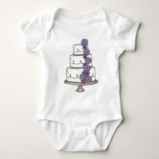 Floral Wedding Cake Flower Girl Personalized Baby Bodysuit