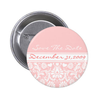 Floral Wedding Change to Any Color 2 Inch Round Button