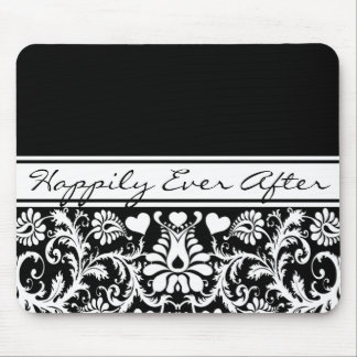 Floral Wedding Change to Any Color Mouse Pad