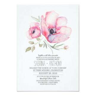 Floral wedding invitations announcements zazzle canada for Floral wedding invitations canada
