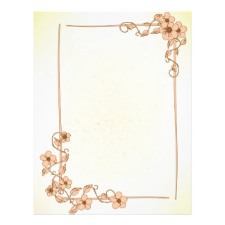 Floral Wedding Letterhead