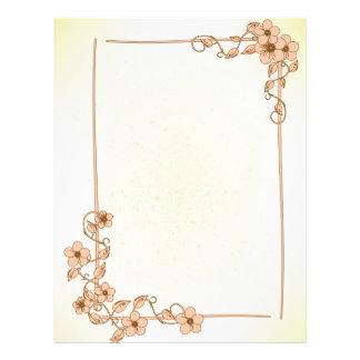 Floral Wedding Letterhead