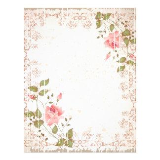 Floral Wedding Letterhead, Rose paper, Weddings Letterhead