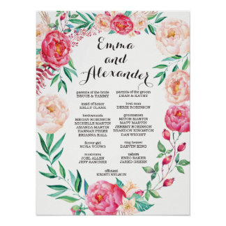 Floral Wedding Party Sign / Welcome Sign