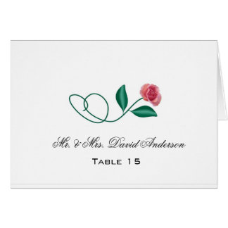Floral Wedding Place Card