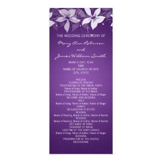 Floral Wedding Program Exotic Blooms Purple