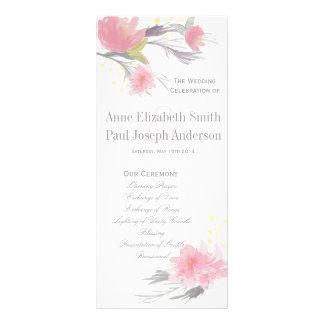 Floral Wedding Program Rack Card Template
